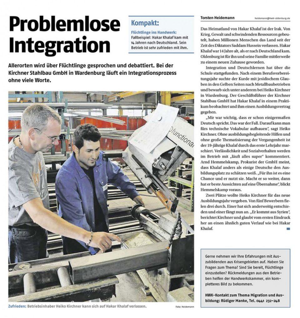 Problemlose Integration bei Kirchner Stahlbau